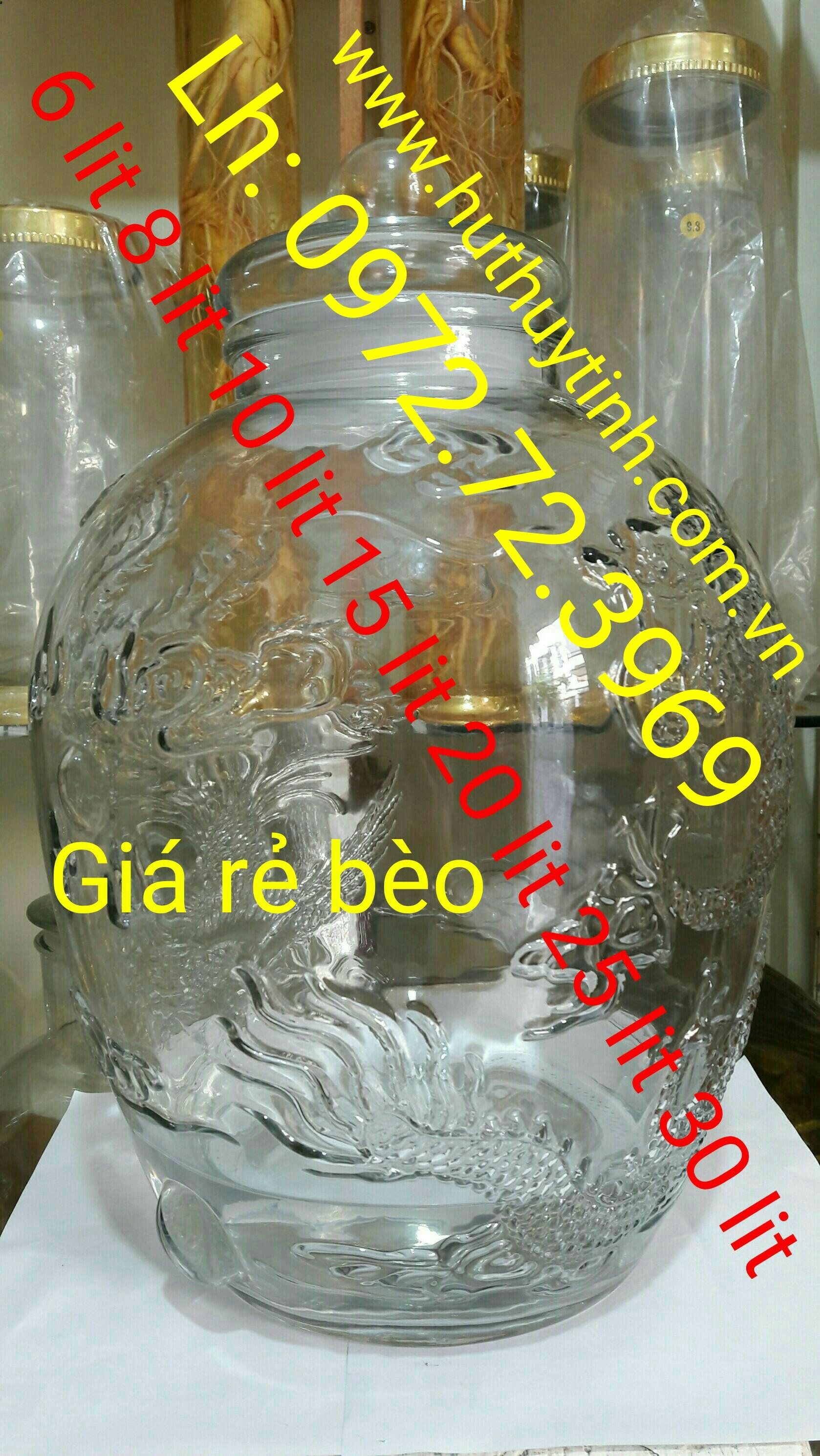 Chum thủy tinh 6-8-10-15-20-25-30 lít
